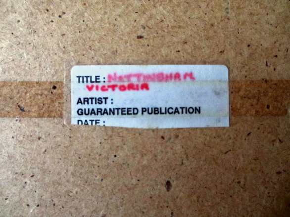 """The label attached """"Nottingham Victoria""""."""