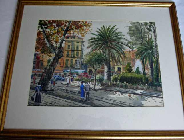 Watercolour on paper, 20th C Continental School, signed G. Molina.