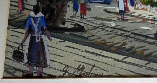 The artist's signature lower lh corner.