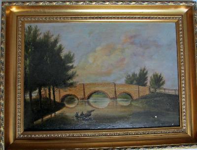 Packhorse Bridge (aka Sheepwash Bridge) at Ashford-in-the-Water, Bakewell,