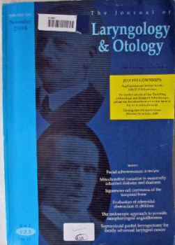 The Journal of Laryngology & Otology, November 2008, Vol 122 No 11.
