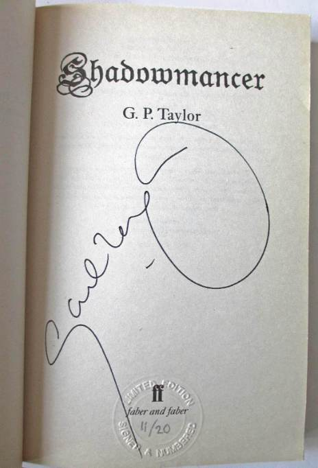 Author's signature on the title page.