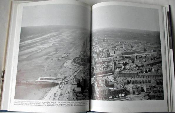 Sample page with aerial view of Blackpool.