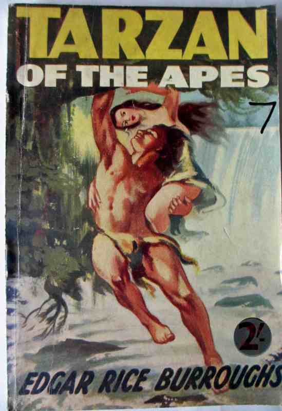 Front colour illustrated cover Tarzan of the Apes.