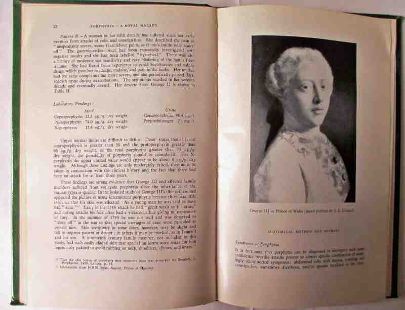 Sample pages p22 and facing George III as Prince of Wales.