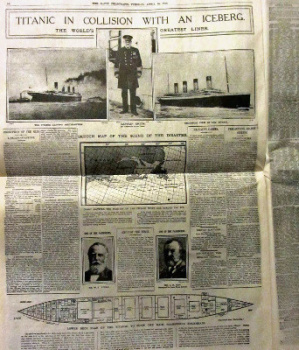 Titanic Commemorative Reprint, Limited Edition of The Daily Telegraph April 16, 1912.