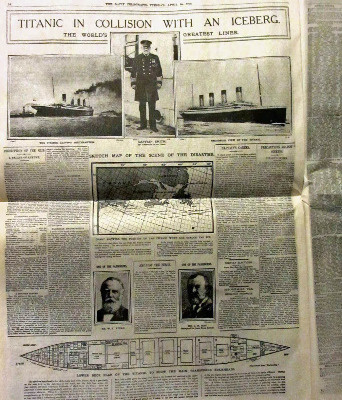 Titanic Commemorative Reprint, Limited Edition of The Daily Telegraph April