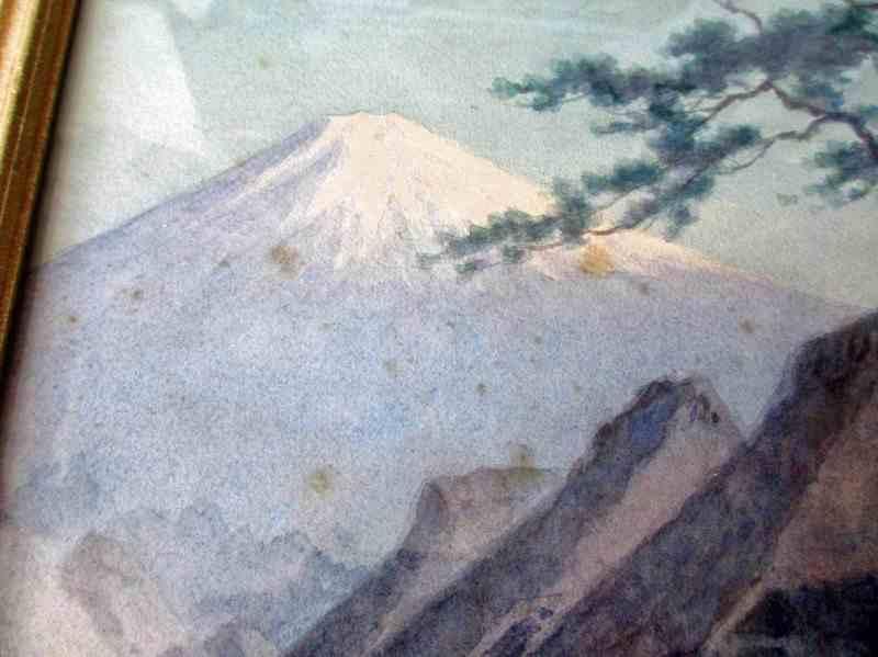 Detail of Mt. Fujiyama.