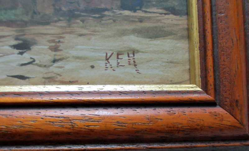 The artist's monogram KEH.