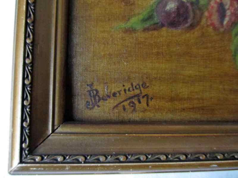 The artist's signature and date.