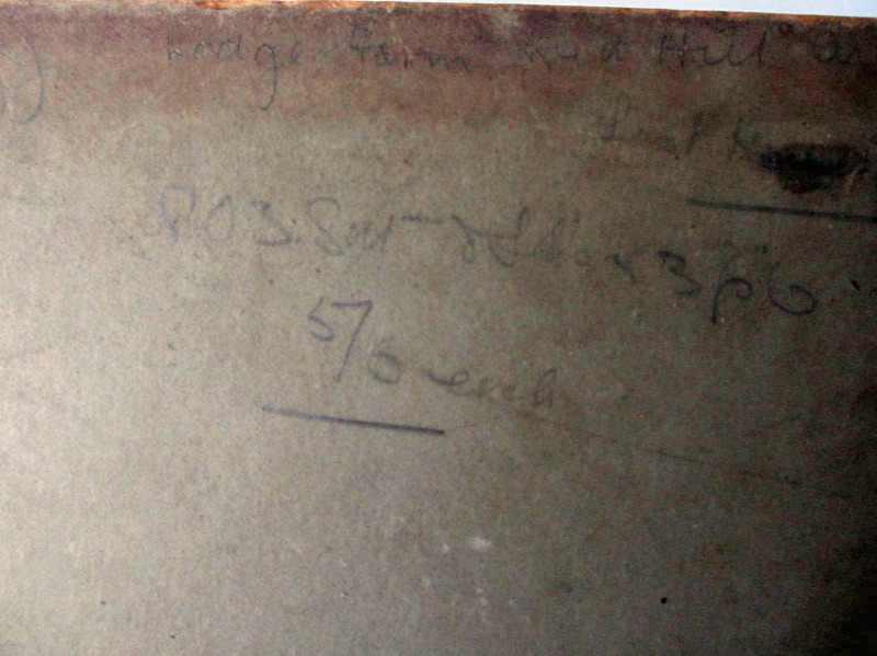 The pencil handscript.