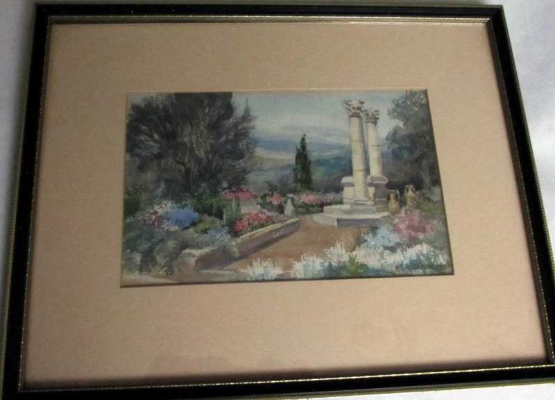 Watercolour on paper signed M. Kitchener.