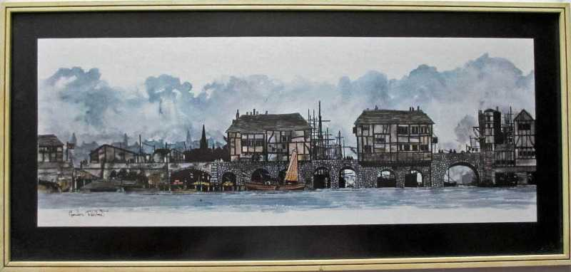 City Bridge, open edition print by Gordon Rashmer.