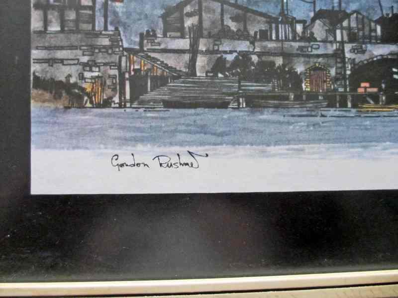 Artist's signature (print) lower lh corner.