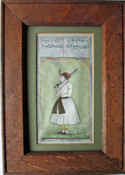 Study of a Persian soldier c1850, watercolour on paper, 19th Century Persian School.  SOLD  24.05.2014.
