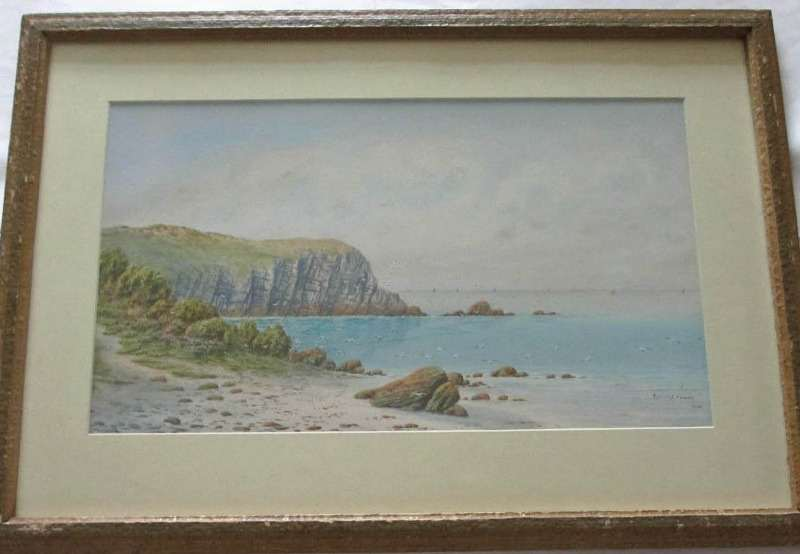 Alternative view of the watercolour.