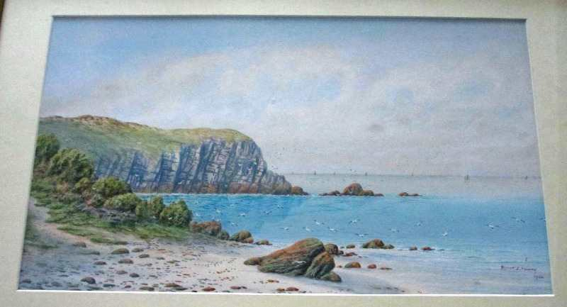 Detailed view of the coastal landscape dated 1920.