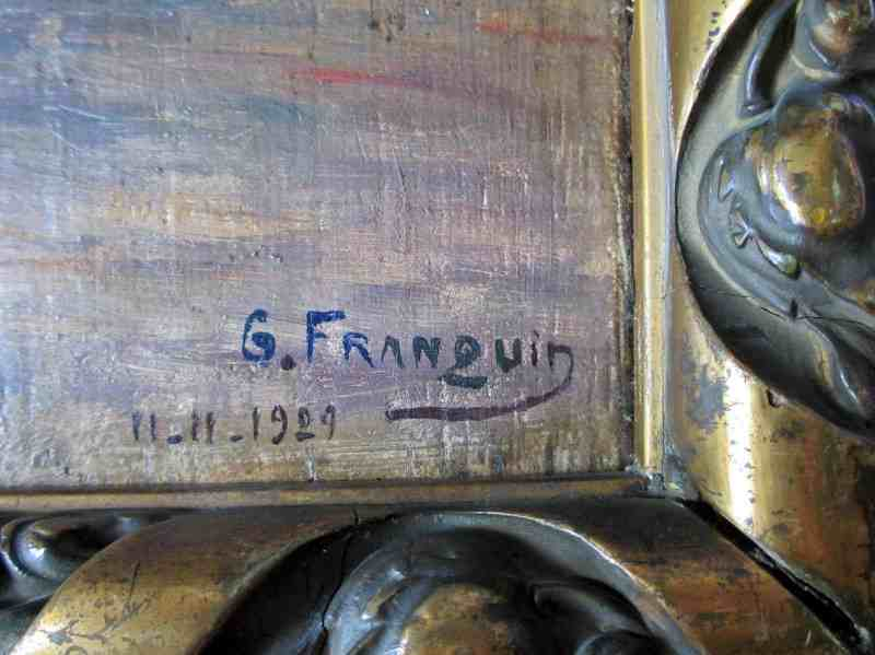 Artist's signature and date.