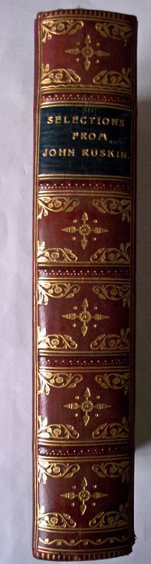 The calf-leather spine.