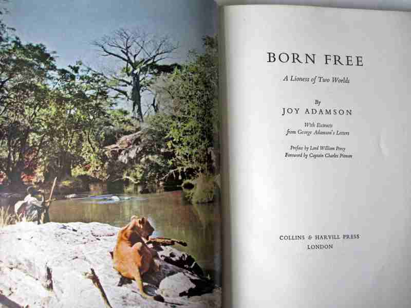 Born Free, title page and facing colour frontispiece.