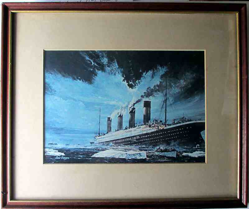 Sinking of Titanic by Chris Mayger.