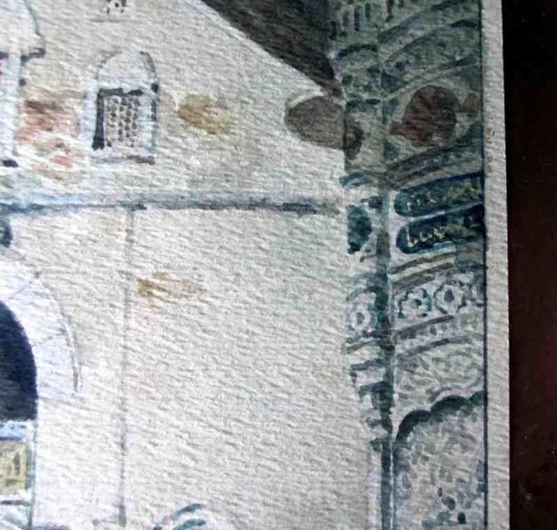 Arabic script on building.