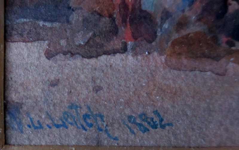W.L. Leitch's signature lh corner.