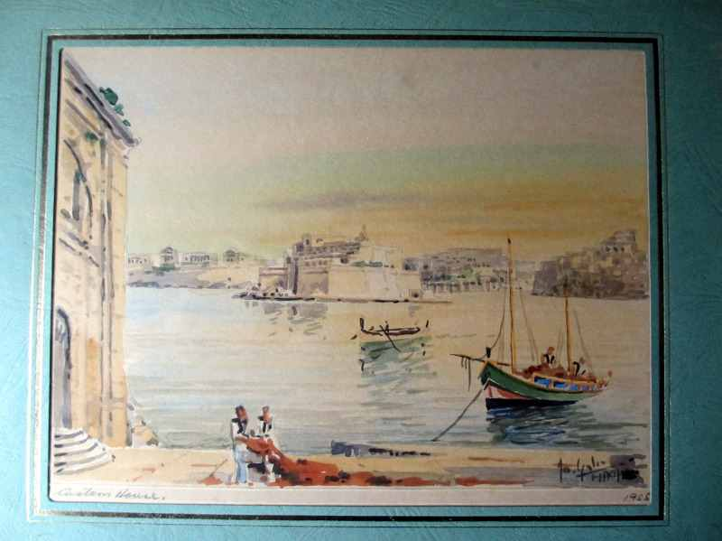 Custom House Valletta, detailed view.
