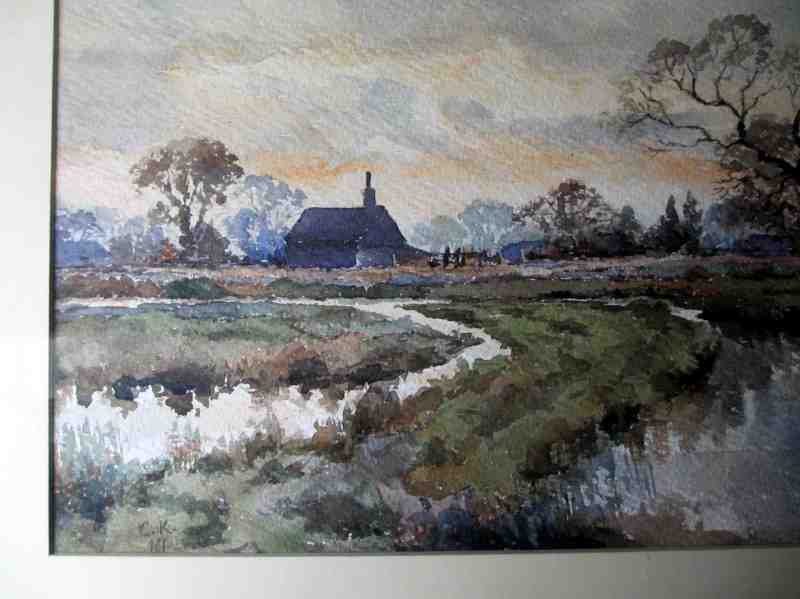 The farmhouse and fens in detail.