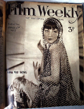 The Film Weekly Magazine, Sat. Oct 3, 1931 - Sat. Jan 9, 1932, bound volume.  SOLD.
