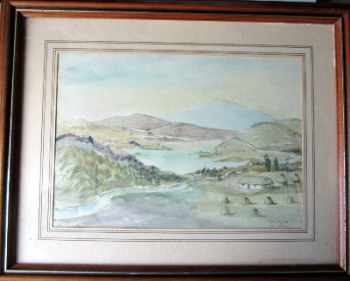 Near Portree, Isle of Skye, Scotland, signed H.R. Wilson, watercolour on paper. c1950.