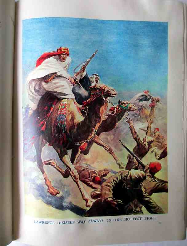 The Wonder Book of Daring Deeds. c1937. Sample plate T.E. Lawrence.