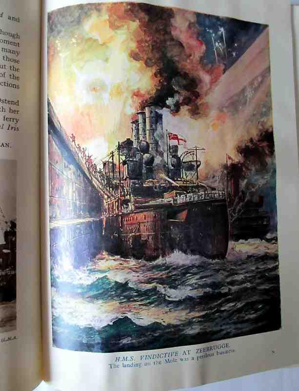 The Wonder Book of Daring Deeds. c1937. Sample plate HMS Vindictive.