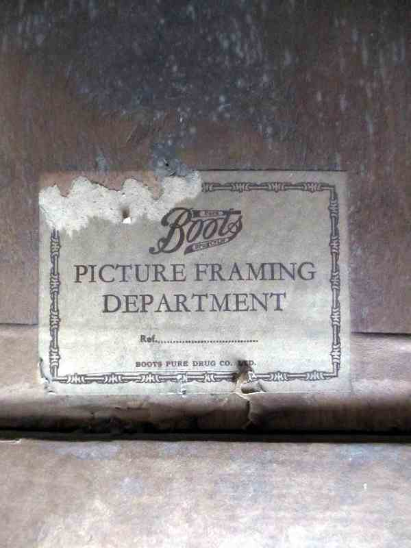The framer's label.