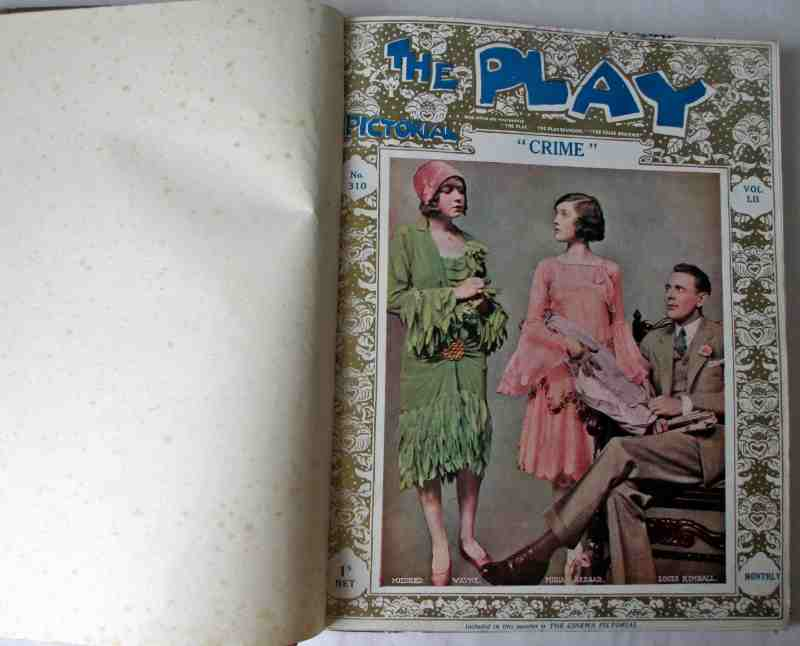 The Play Pictorial 1928 (6 issues in 1 vol.). First issue.