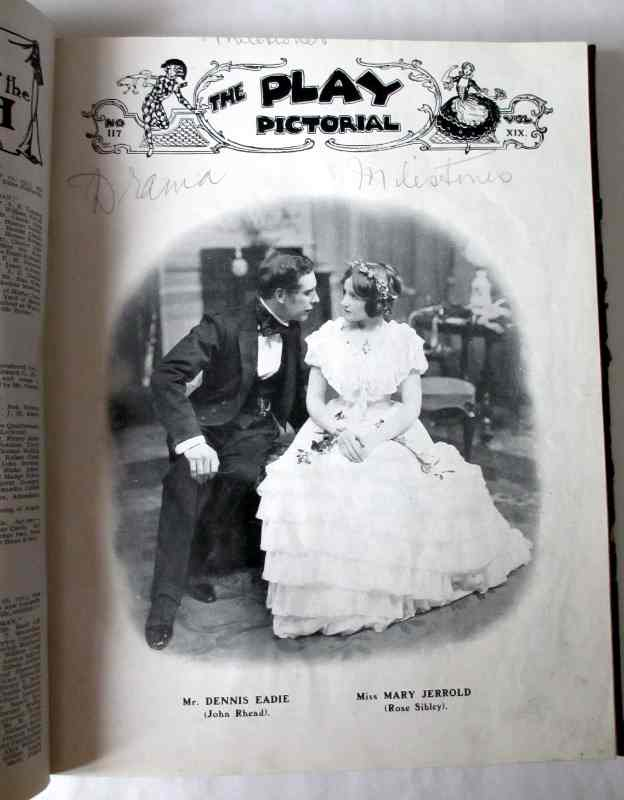 "The Play Pictorial 1928 (6 issues in 1 vol.). Second issue ""Milestones""."