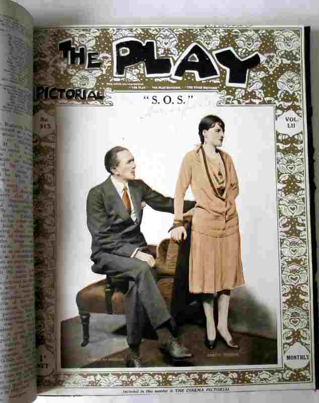"The Play Pictorial 1928 (6 issues in 1 vol.). ""SOS""."