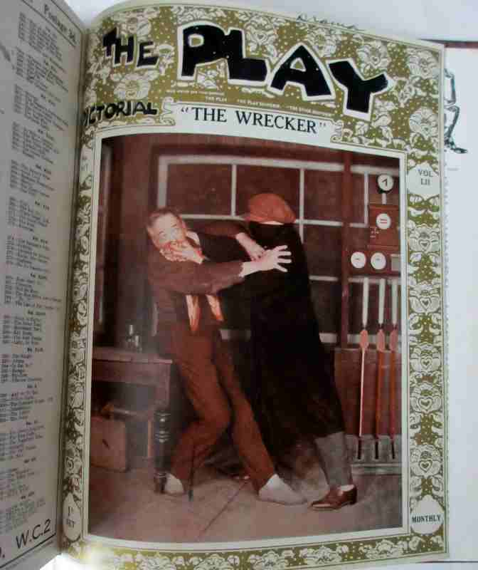 The Play Pictorial 1928 (6 issues in 1 vol.). The Wrecker.