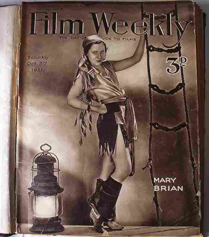 Film Weekly - Sample front cover.
