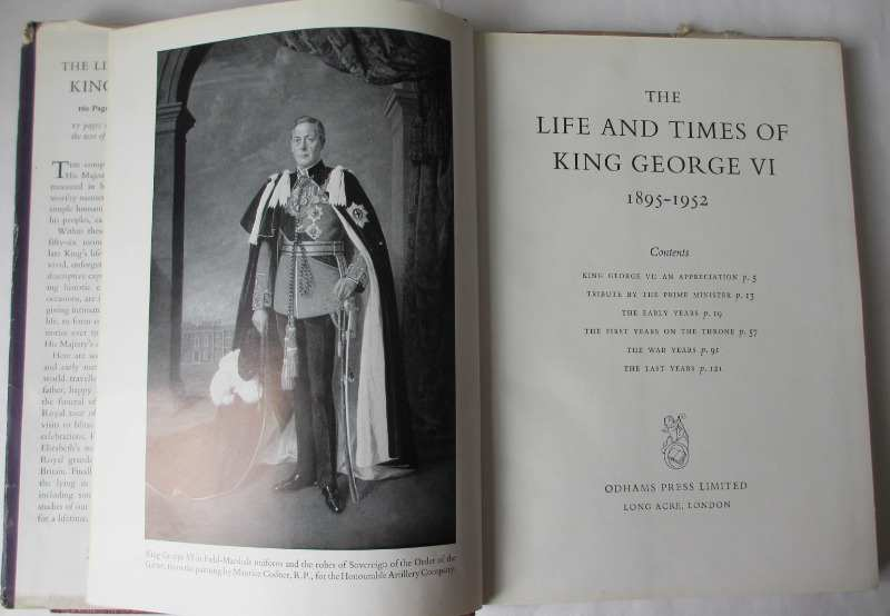 The Life and Times of King George VI 1895-1952, frontisplate and Title page.
