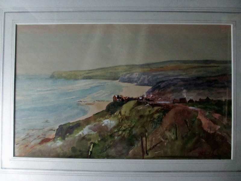 Robin Hood's Bay signed Michael Crawley c1980.
