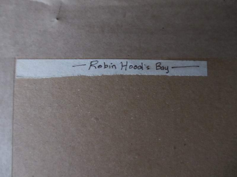 Robin Hood's Bay signed Michael Crawley c1980. The title verso.