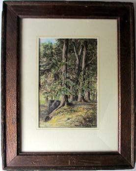 Forest scene, watercolour on paper, signed Karl de Grammont 1976. Framed and glazed.   SOLD.