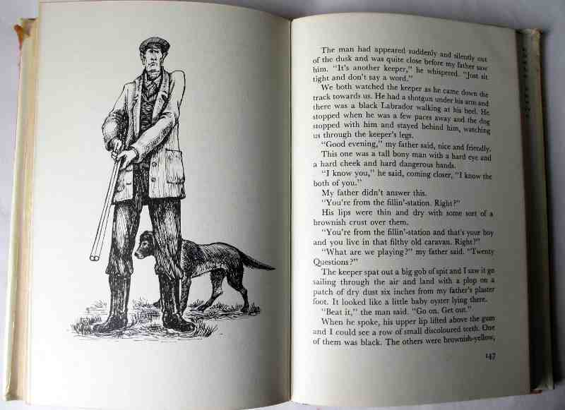 Danny The Champion of the World by Roald Dahl, illustrated by Jill Bennett. First Edition 1975. Sample page.