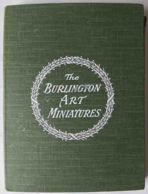 The Burlington Art Miniatures publised by The Fine Arts Publishing Co. Ltd., London, E.C. c1900. The case in detail.