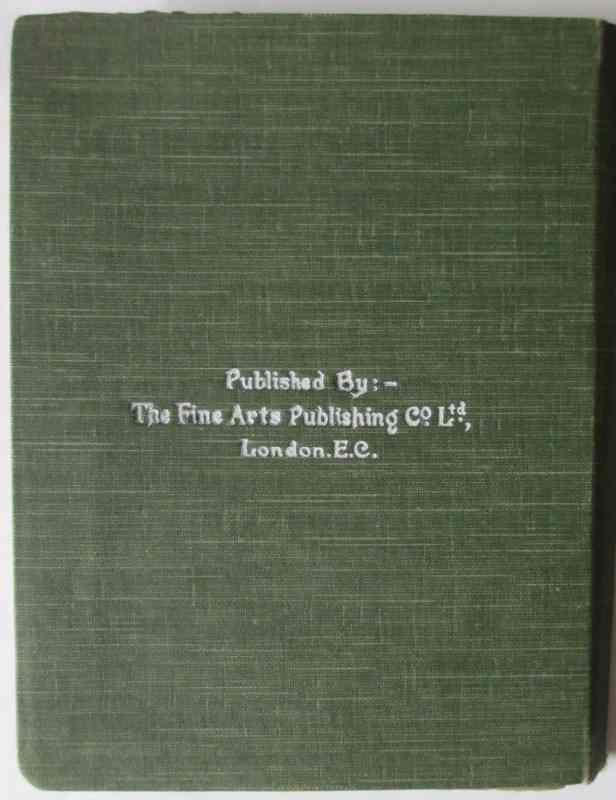 The Burlington Art Miniatures publised by The Fine Arts Publishing Co. Ltd., London, E.C. c1900. The case verso.