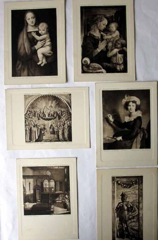 The Burlington Art Miniatures publised by The Fine Arts Publishing Co. Ltd., London, E.C. c1900. No. 12. Italian Galleries. Part contents.