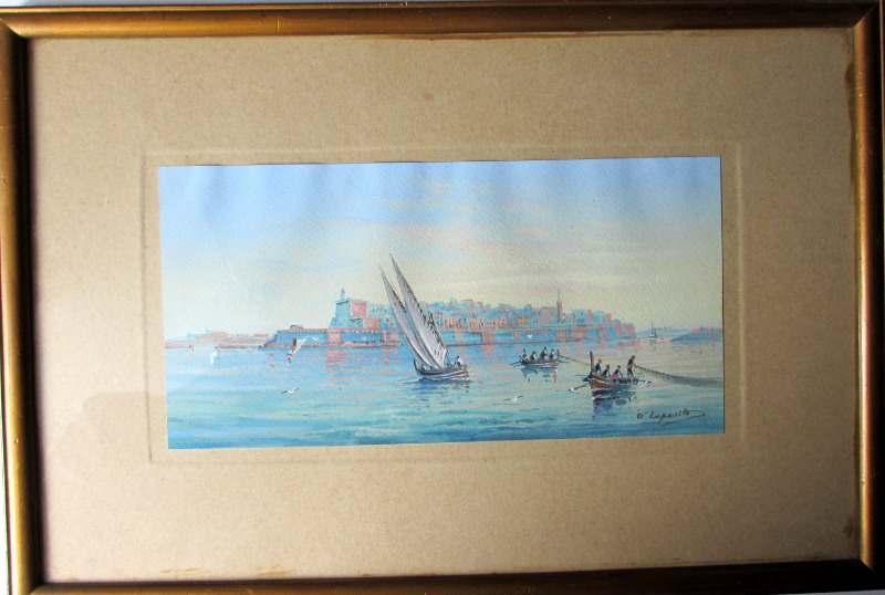 Fort St Elmo - Malta, signed D'Esposito, c1900.