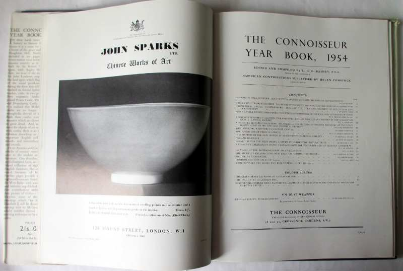 The Connoisseur Year Book 1954, published by the National Magazine Co. Ltd., London. Title page.
