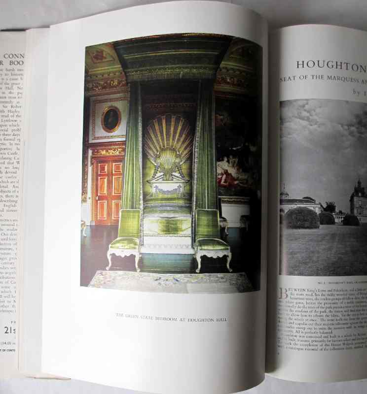 The Connoisseur Year Book 1954, published by the National Magazine Co. Ltd., London. p3 and facing colour plate The Green State Bedroom Houghton Hall.